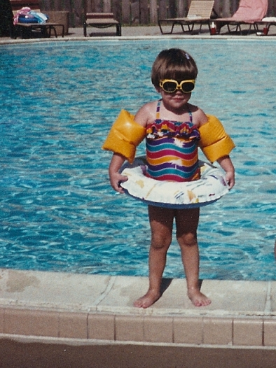 I wore floaties until I reached high school.